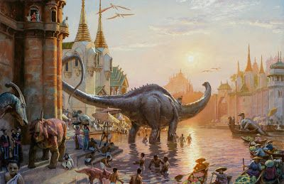 Dinotopia painting to be exhibited in Los Angeles