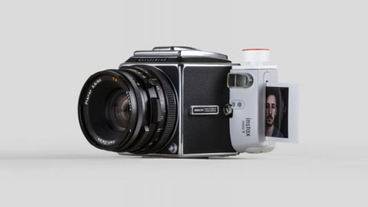 Combining a Hasselblad 500C/M and a Fujifilm Instax 9