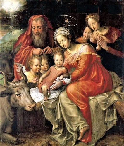 Madonnas attributed to Belgian artist Jacob de Backer 1555-1585