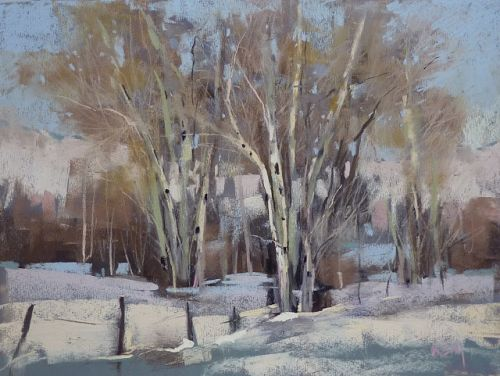 The Magic of Using Neutrals in a Winter Landscape Painting