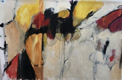 """Abstract Art, Expressionism, Contemporary Painting """"The View to Happiness"""" by Contemporary Artist Maggie Demarco"""