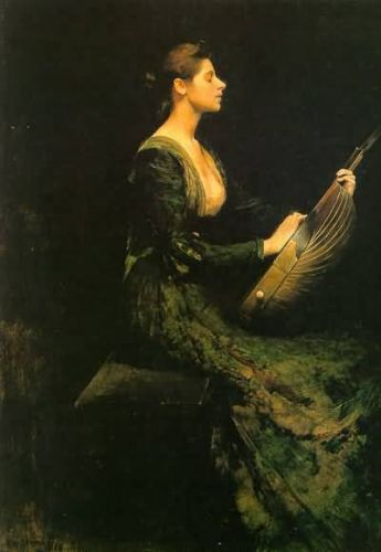 Thomas Wilmer Dewing's Women with Musical Instruments