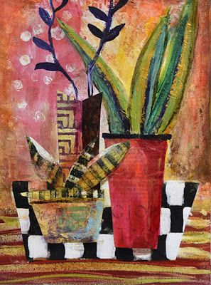 "BOGO,Still Life, Contemporary Abstract Mixed Media Painting ""Italian Life"" by Santa Fe Contemporary Artist Sandra Duran Wilson"