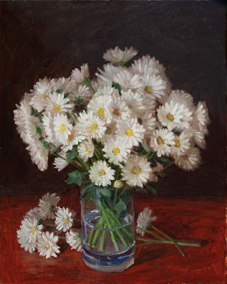 White daisy flower still life oil painting original