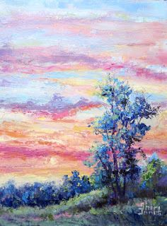 Rainbow Clouds, New Contemporary Landscape Painting by Sheri Jones