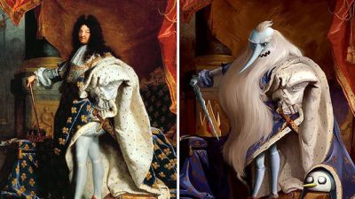 Artist Gives Famous Paintings Geeky Cartoon Makeovers