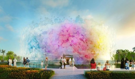 Paul Cocksedge Designs Living Watercolor Pavilion for EXPO 2020