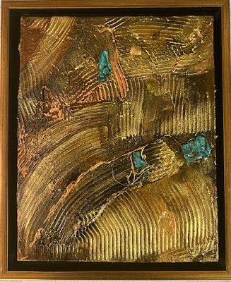 "Mixed Media Art, Organic Abstract, Contemporary Art, ""Off The Grid"" by Texas Contemporary Artist Sharon Whisnand"