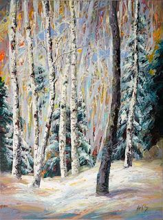 "Winter from the New ""Evolving Seasons"" Series by Contemporary Impressionist Niki Gulley"