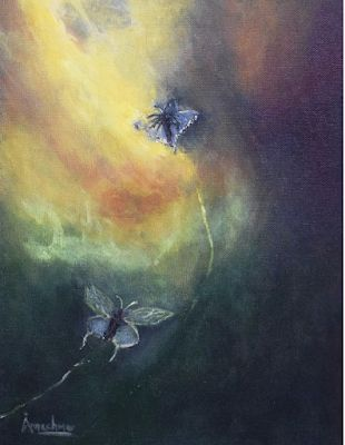Abstract Art Painting,Butterfly,Environmental Art