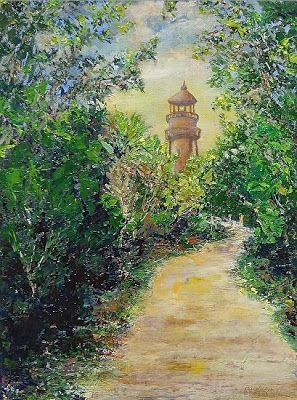 "Original Florida Coastal Landscape Painting ""Serenity on Sanibel"" by Florida Impressionism Artist Annie St Martin"