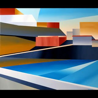 Mark Webster - Abstract Canary Islands Acrylic Painting