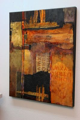 "Mixed Media Abstract Painting, ""Headlines"" by Colorado Mixed Media Abstract Artist Carol Nelson"