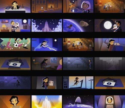 """My early color script for """"One Small Step"""" based on"""