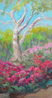 New 'Visions of Azaleas' Palette Knife Oil Painting by Niki Gulley