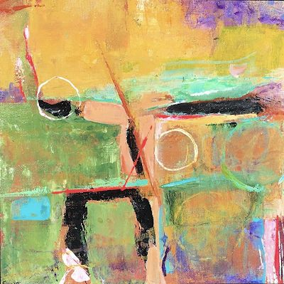 """Contemporary Abstract Expressionist Fine Art Painting, Mixed Media Painting """"EQUINOX"""" by Contemporary Expressionist Pamela Fowler Lordi"""