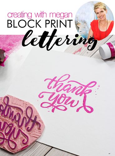 Creating with megan: block print lettering