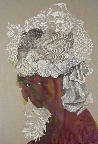 Swirling Abstract Portraits by Firelei Báez Explore Identity in Diasporic Societies