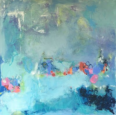 """Contemporary Abstract Expressionism Painting, """"SUBMERGED"""