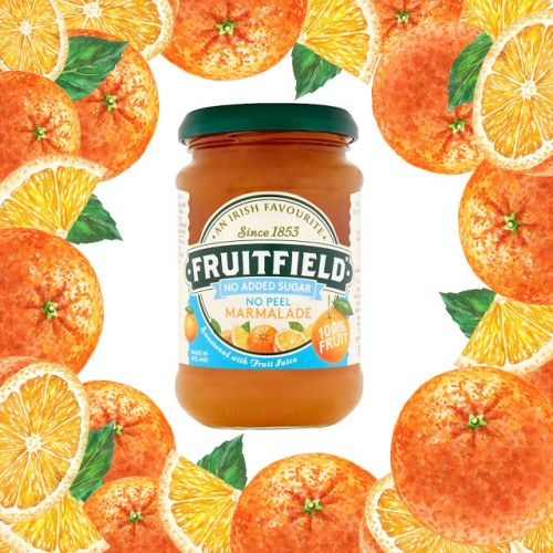 Orange Watercolor Illustrations On Marmalade Labels And Packaging