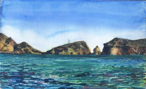 Pen and Ink Study - Frenchy's Cove and Ten Reasons for Beginners to Make Small Art