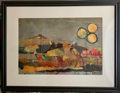"Expressionism, Contemporary Painting, Framed Art, Mixed Media Art, ""VISTA"" by Texas Contemporary Artist Sharon Whisnand"