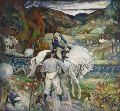 N.C. Wyeth Does Modernism, Meets George Washington