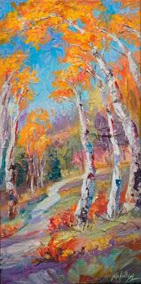 "New ""Perspective Control"" Fall Aspen Painting by Niki Gulley"