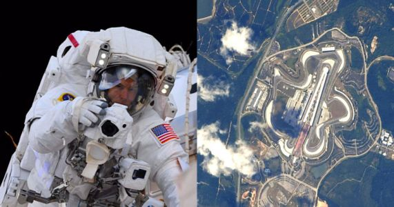 This Astronaut Shot Racetracks from Space with a Nikon DSLR