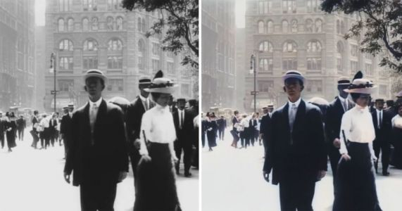Using AI to Colorize and Upscale a 109-Year-Old Video of New York City to 4K and 60fps