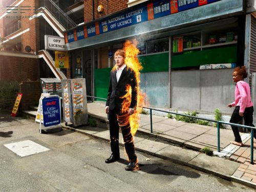 Creating Photos of a Man on Fire