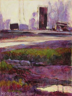 Contemporary Impressionist Landscape Art Painting 'Daybreak' by Texas Artist Holly Hunter Berry