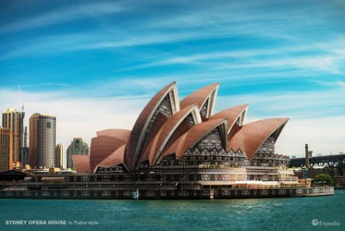7 Iconic Buildings Reimagined in Different Architectural Styles