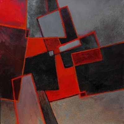 "Geometric abstract, ""A Scattering of Red"" © Carol Nelson Fine ArtGeometric abstract, ""A Scattering of Red"" © Carol Nelson Fine Art"