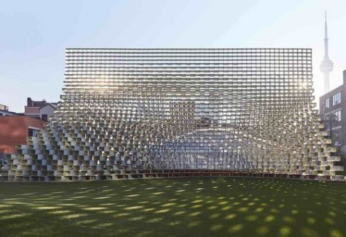 """BIG's Relocated Serpentine Pavilion Opens as """"Unzipped"""" in Toronto"""