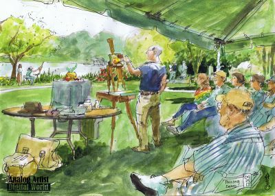 Painting demo A Plein Air Picnic