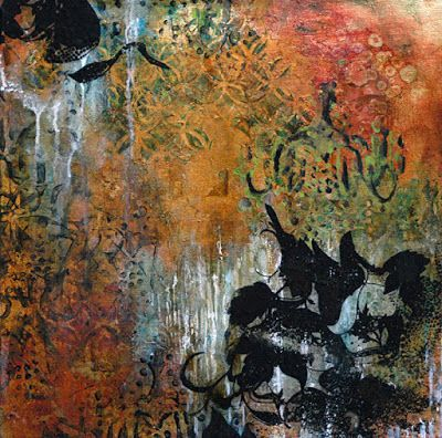 "Mixed Media Abstract Painting ""Light The Way"" by Santa Fe Contemporary Artist Sandra Duran Wilson"