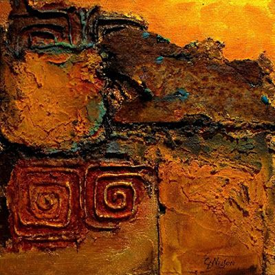 """Contemporary Mixed Media Abstract Painting """"Southern Relic"""