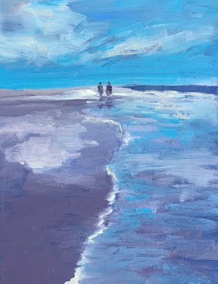"Figures on Beach, ""Walking,"" by Amy Whitehouse"