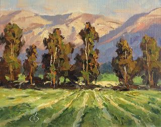 CALIFORNIA IMPRESSIONIST LANDSCAPE by TOM BROWN