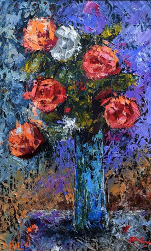 """Red Roses Painting Floral Art Flowers Paintings Still Life """"Kindness"""" by Debra Hurd"""