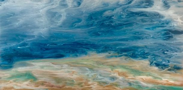 "Abstract Seascape, Coastal Living Decor, Contemporary Seascape, Ocean Wave Art ""The Glory of the Storm-Electric Storm Series"