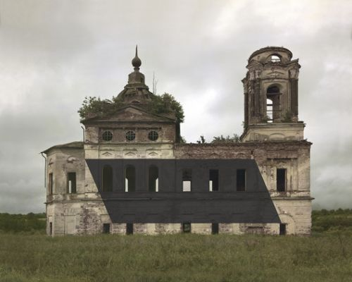 Abandoned Russian Orthodox Monuments Appropriated with Abstract Modernist Shapes by Danila Tkachenko