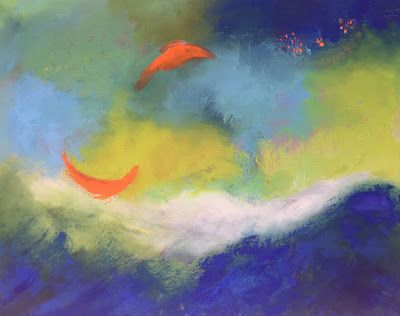 """Happy Abstract Paintings, """"Abstract 21,"""" by Amy Whitehouse"""