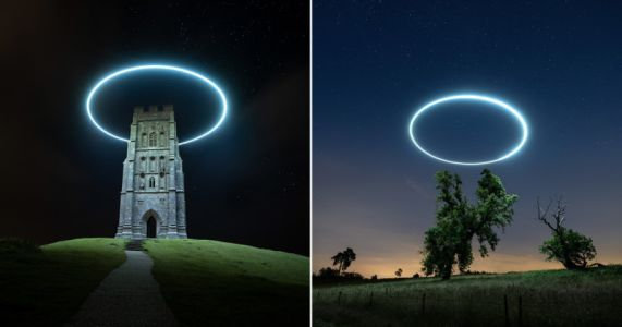 How This Photographer Creates His Light Painted Halo Long Exposures