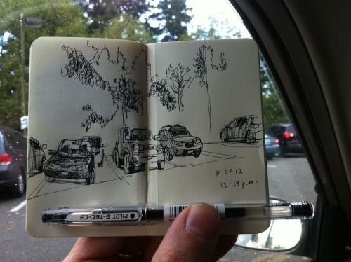 Urban sketching on the go