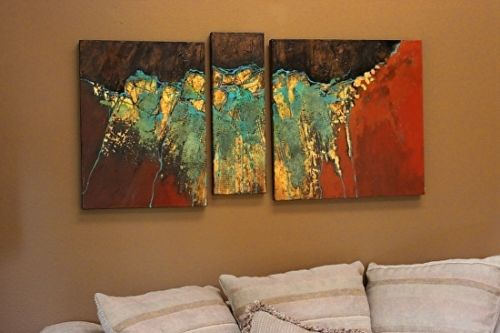 "Mixed Media Abstract, ""Golden Mantle"" by Mixed Media Artist Carol Nelson Fine Art"