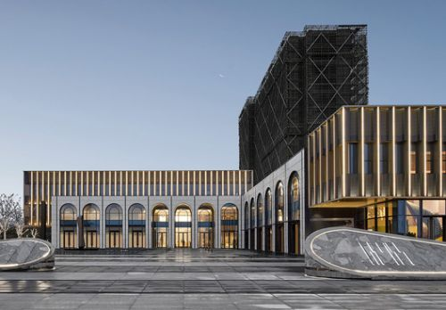 Metropolis Light Exhibition Center / PTArchitects