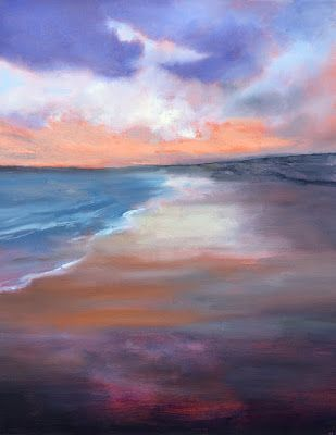 """Beach and Ocean, """"Day's End Reflections,"""" by Amy Whitehouse"""
