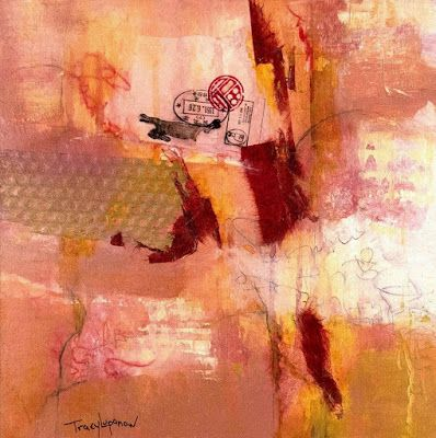 "Mixed Media Abstract Painting, Contemporary Art, Expressionism, ""Lost Memories Emerging"" by Contemporary Artist Tracy Lupanow"